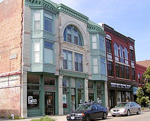 National Register of Historic Places listings in McLean County, Illinois - Image: Bloomingtonbusiness