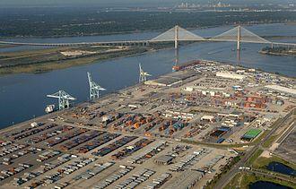 Jacksonville metropolitan area - Blount Island Marine Terminal of JAXPORT