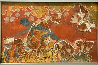 Blue Boy fresco from Knossos