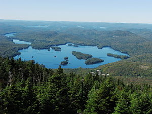 Blue Mountain Lake, New York - Image: Blue Mountain Lake in New York