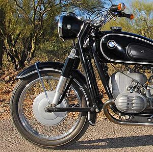 Suspension (motorcycle) - BMW's 1955-1969 Earles fork eliminated and reversed brake dive