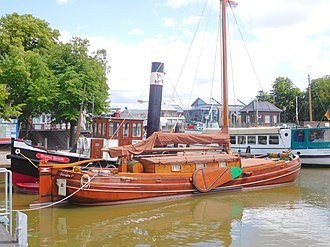 East Frisia - West bank of the Ems  River in Leer.