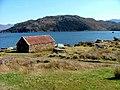 Boathouse on Loch a' Chracaich - geograph.org.uk - 1802320.jpg