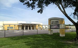 Angela Bassett - Boca Ciega High School, where Bassett as a teenager was a member of the debate team and student government among other endeavors.