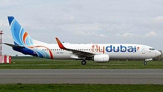 Flydubai - Flydubai Boeing 737-800 at Prague airport, registration A6-FEY