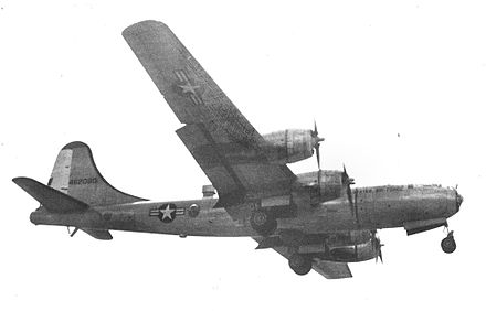 WB-29A of the 53d Weather Reconnaissance Squadron in 1954 showing the fuselage-top observation station Boeing WB-29A 53 WRS 1954.jpg