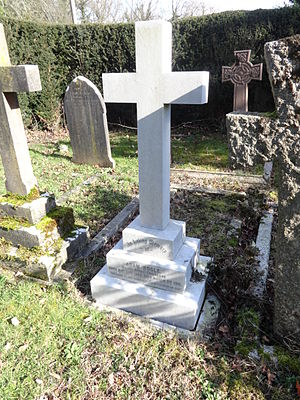 Adam Bogle - Grave of Major Adam Bogle R.E., All Saints, Steep, Hampshire