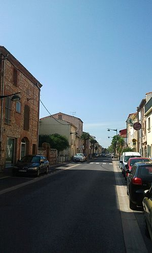 Bompas, Pyrénées-Orientales - Haut-Vernet avenue in downtown Bompas