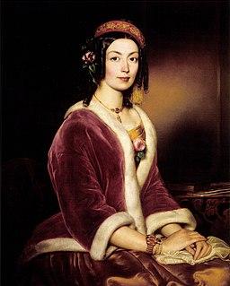 Borsos Woman Wearing a Velvet Pelisse c. 1850