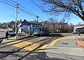 Boston College station from yard entrance, December 2018.JPG