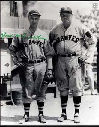 Fred Frankhouse -  Fred Frankhouse and Babe Ruth