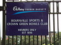 Bournville Sports Club sign.JPG