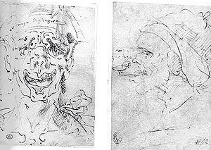 Aurelio Luini - Ol compà Digliagòr and Ol compà Braghetògn , two caricatures. Pinacoteca Ambrosiana, Milan.