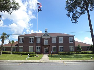 Brantley County Courthouse - Image: Brantley County Courthouse (North face)