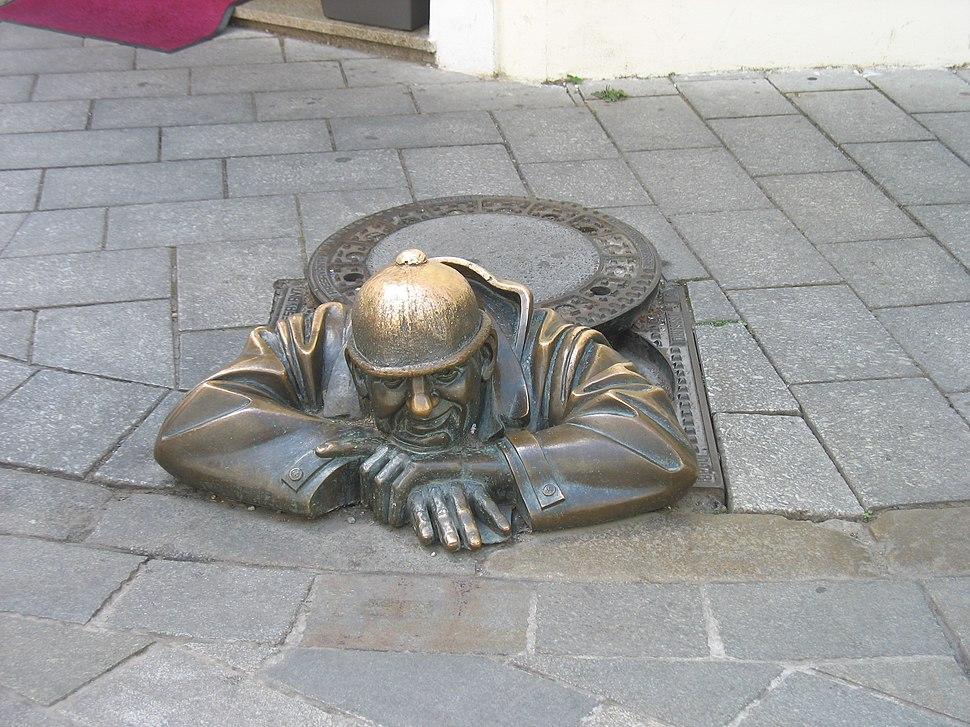 Bratislava bronze sculpture 2014