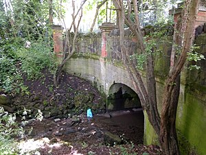 Shirebourne brook - Image: Bridge over the Shirebourne at Victoria Recreation Ground east side