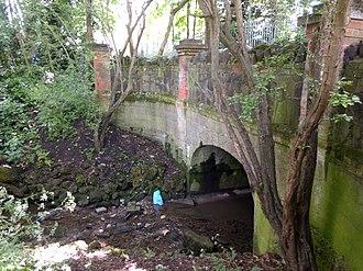 Shirebourne brook - Image: Bridge over the Shirebourne at Victoria Recreation Ground east side