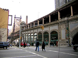 Queensboro Bridge - Bridgemarket on Manhattan side