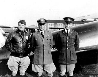 Benjamin Foulois - Brig. Gen. Benjamin D. Foulois (left), Maj. Gen. James E. Fechet and Brig. Gen. H. Conger Pratt