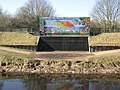 Brightly decorated flood defence works. - geograph.org.uk - 1740261.jpg