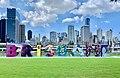 Brisbane Sign and Skyline of Brisbane CBD, Queensland in Feb 2020.jpg