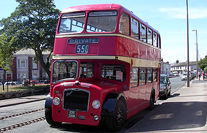 Lowbridge double-deck bus - Preserved Bristol Lodekka FS6G