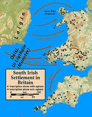 Declán of Ardmore - Image: Britain.Deisi.Laigin