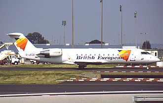 Flybe - A British European CRJ-200 wearing the 2000-2002 livery