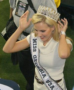 Miss Georgia USA - Brittany Swann, Miss Georgia USA 2007, at the Peach Bowl