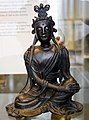 Bronze seated figure of Bodhisattva, from China, Yuan Dynasty, 14th century CE, British Museum.jpg