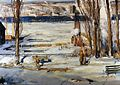 Brooklyn Museum - A Morning Snow--Hudson River - George Wesley Bellows - overall.jpg