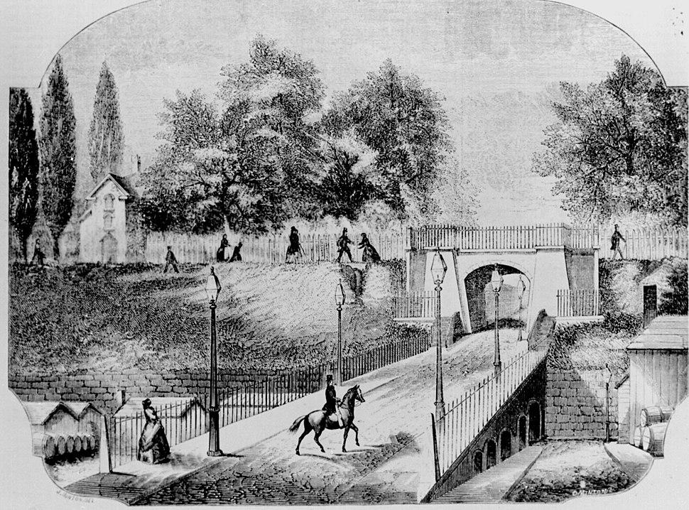Brooklyn heights drawing 1854