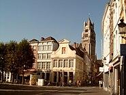 Brugge, Sint Salvatorskathedraal foto1 in straatbeeld 2007-08-05 09.32