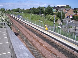 Brunstane railway station - View of Brunstane station, looking towards Portobello Junction