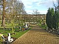 Brunswick Park Cemetery, New Southgate, looking East - geograph.org.uk - 629429.jpg