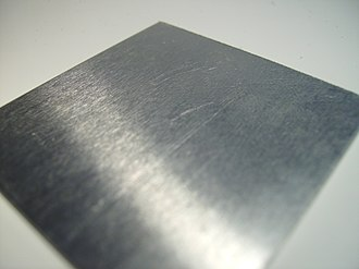 Brushed metal - A piece of brushed aluminium