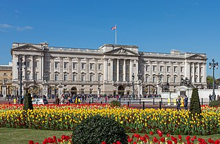 Official London residence and principal workplace of the British monarch