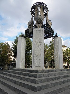 Quito Square - The monument in Quito Square, recently restored