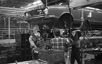 Audi - Audi 80 assembly line in Wolfsburg, 1973