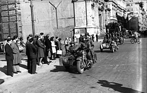 16th SS Panzergrenadier Division Reichsführer-SS - A motorcycle unit of the division in Rome, November 1943