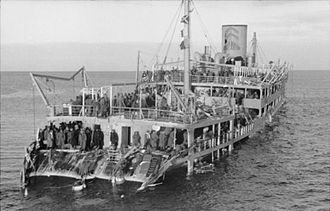Baltic Sea campaigns (1939–45) - The Soviet passenger ship Iosif Stalin, used for evacuation of troops from Hanko in November 1941, damaged by mine on 3 December 1941 and captured by the Germans.