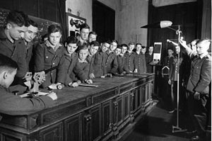 National Political Institutes of Education - Students attending a physics lesson in a Napola school
