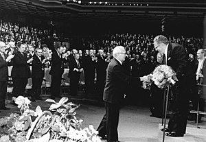 Kurt Sanderling - Erich Honecker and Kurt Sanderling during a concert celebrating the 750th anniversary of the city of Berlin in 1987