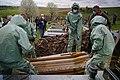 Burial of deceased COVID-19 patient during pandemic in Ukraine. Chernivtsi, Ukraine.jpg