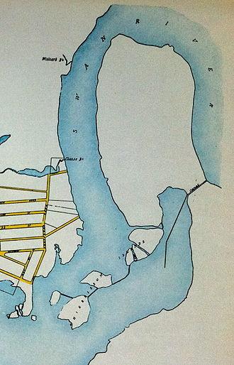 Heirisson Island - The earlier state of the Heirisson Island area