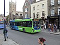 Bus outside The Baron of Beef pub, Cambridge, England - DSCF2195.JPG