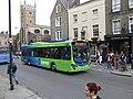 Bus outside The Baron of Beef pub, Cambridge, England - DSCF2195.JPG