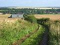 Byway and barn, Beckhampton - geograph.org.uk - 928741.jpg