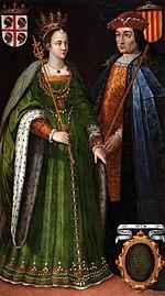 Còpia de 1634 del retrat imaginari de la reina Peronella d'Aragó i elcomte Ramon Berenguer IV de Barcelona - Filippo Ariosto (1586-1587).jpg