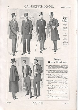 Western dress codes - Collection Kuhn (1910).